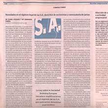 Novedades en el regimen legal de las S.A.: derechos de accionistas y convocatoria de juntas